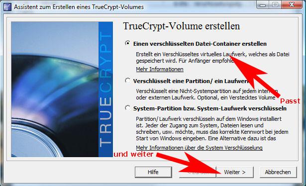 TrueCrypt-Assistent-Start