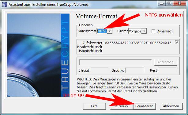 TrueCrypt-Formatieren