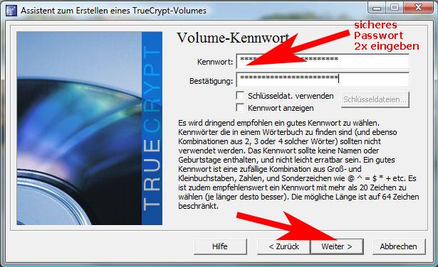 TrueCrypt-Passwort