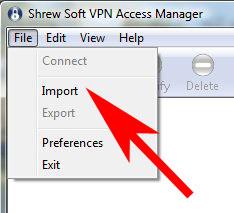 VPN-Import
