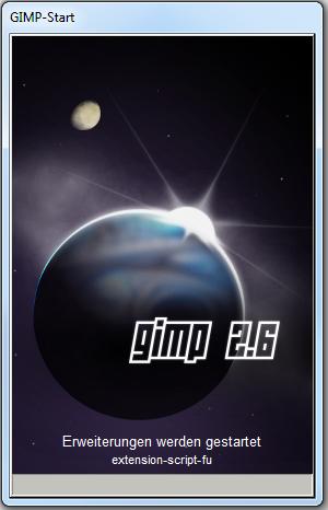 GIMP 2.6 unter Windows kompiliert und gestartet